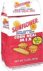 mix enriched degerminated self rising white corn meal Sunflour Nutrition info