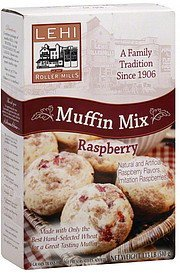 mix muffin, raspberry Lehi Roller Mills Nutrition info