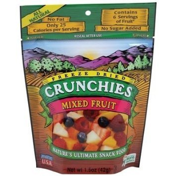 mixed fruit Crunchies Nutrition info