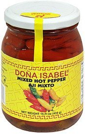 mixed hot pepper Dona Isabel Nutrition info