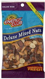 mixed nuts deluxe, value size Energy club Nutrition info