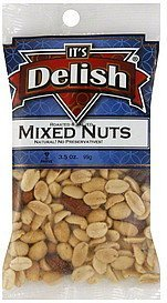 mixed nuts roasted & salted Its Delish Nutrition info