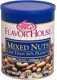 mixed nuts Flavor House Nutrition info
