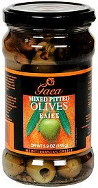 mixed pitted olives Gaea Nutrition info