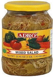 mixed salad Adro Nutrition info