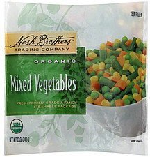 mixed vegetables organic Nash Brothers Trading Company Nutrition info