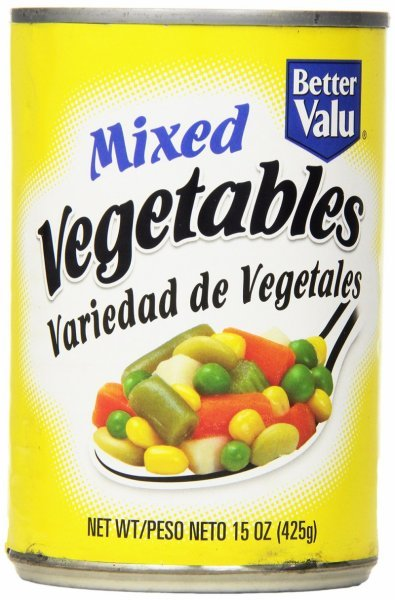 mixed vegetables Better valu Nutrition info