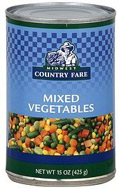 mixed vegetables Midwest Country Fare Nutrition info