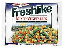 mixed vegetables Freshlike Nutrition info