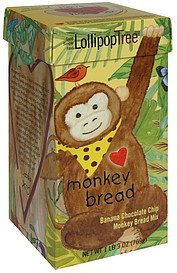 monkey bread mix banana chocolate chip Lollipop Tree Nutrition info