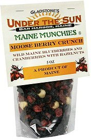 moose berry crunch wild maine blueberry and cranberries with hazelnuts Maine Munchies Nutrition info
