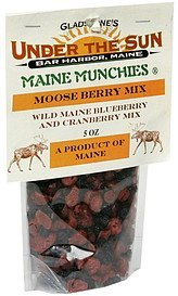 moose berry mix wild maine blueberry and cranberry mix Maine Munchies Nutrition info