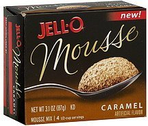 mousse mix caramel Jell-o Nutrition info