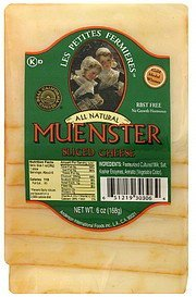 muenster sliced cheese Les Petites Fermieres Nutrition info