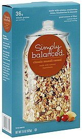 muesli cereal classic Simply Balanced Nutrition info