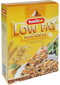 muesli low fat Familia Nutrition info