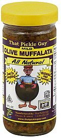muffalata olive, mild That Pickle Guy Nutrition info