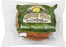 muffin banana walnut Country Fresh Ovens Nutrition info