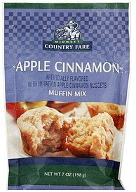 muffin mix apple cinnamon Midwest Country Fare Nutrition info