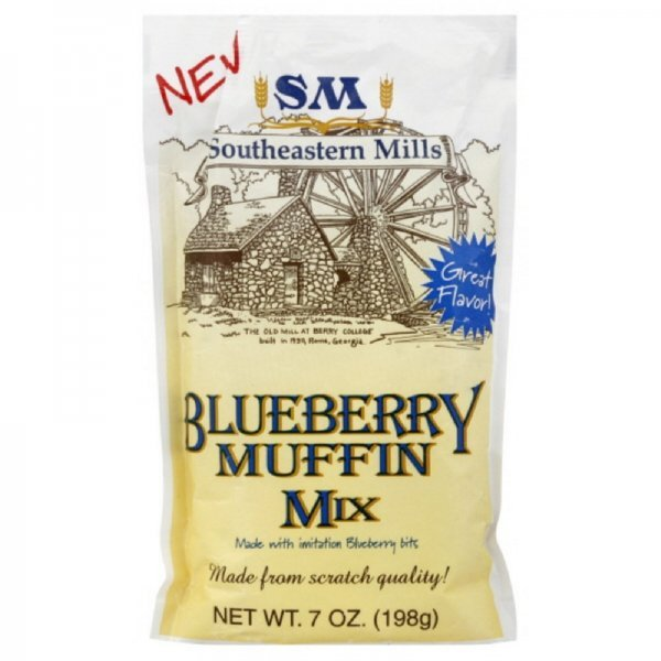 muffin mix blueberry Southeastern Mills Nutrition info