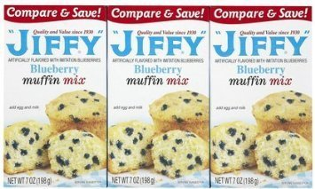 muffin mix blueberry Jiffy Nutrition info