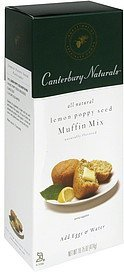 muffin mix lemon poppy seed Canterbury Naturals Nutrition info