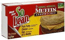 muffin sandwiches meal size SoLean Nutrition info