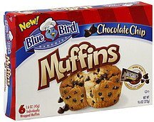 muffins chocolate chip Blue Bird Bakeries Nutrition info