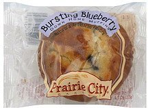 muffins down home, bursting blueberry Prairie City Bakery Nutrition info
