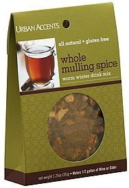 mulling spice whole Urban Accents Nutrition info