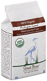 multi-grain cereal 100% organic, whole grain hot Great River Nutrition info