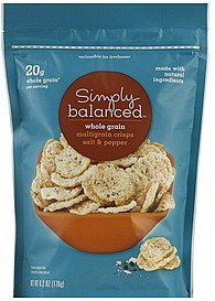 multigrain crisps whole grain, salt & pepper Simply Balanced Nutrition info