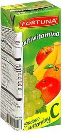 multivitamin juice drink Fortuna Nutrition info
