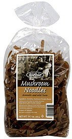 mushroom noodles Riehle Nutrition info