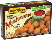 mushrooms italian breaded Macabee Kosher Foods Nutrition info
