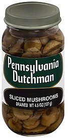 mushrooms sliced Pennsylvania Dutchman Nutrition info