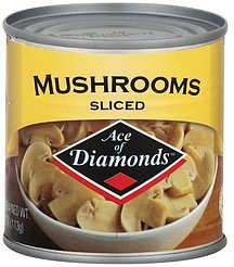 mushrooms sliced Ace of Diamonds Nutrition info