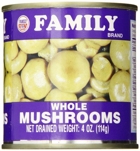mushrooms whole Family Nutrition info