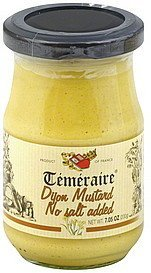 mustard dijon, no salt added Temeraire Nutrition info