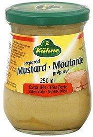 mustard prepared, extra hot Kuhne Nutrition info