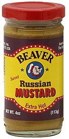 mustard sweet russian, extra hot Beaver Nutrition info
