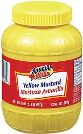 mustard yellow Special Value Nutrition info