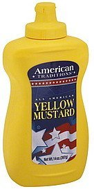 mustard yellow American Traditions Nutrition info