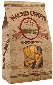 nacho chips totopos, restaurant style Nuevo Leon Nutrition info