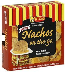 nachos on the go Ricos Nutrition info