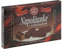 napolitanke chocolate coated Kras Nutrition info