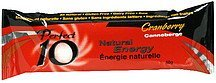 natural energy bar cranberry Perfect 10 Nutrition info