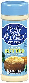 natural flavor sprinkles butter fat free Molly McButter Nutrition info