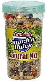 natural mix snack' n drive Energy club Nutrition info