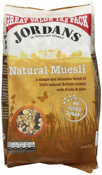 natural muesli Jordans Nutrition info